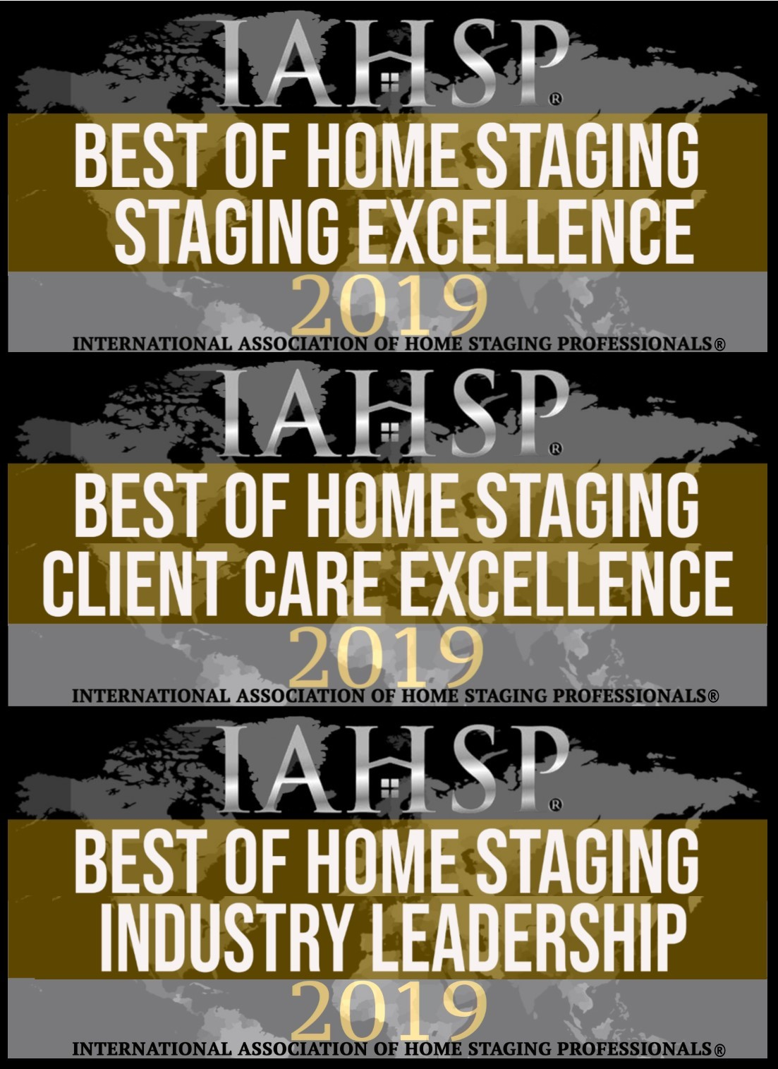 Best of Home Staging Award IAHSP 2018 for Industry Leadership