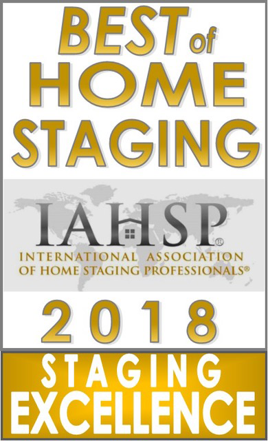 Best of Home Staging IAHSP Award 2018 for Staging Excellence