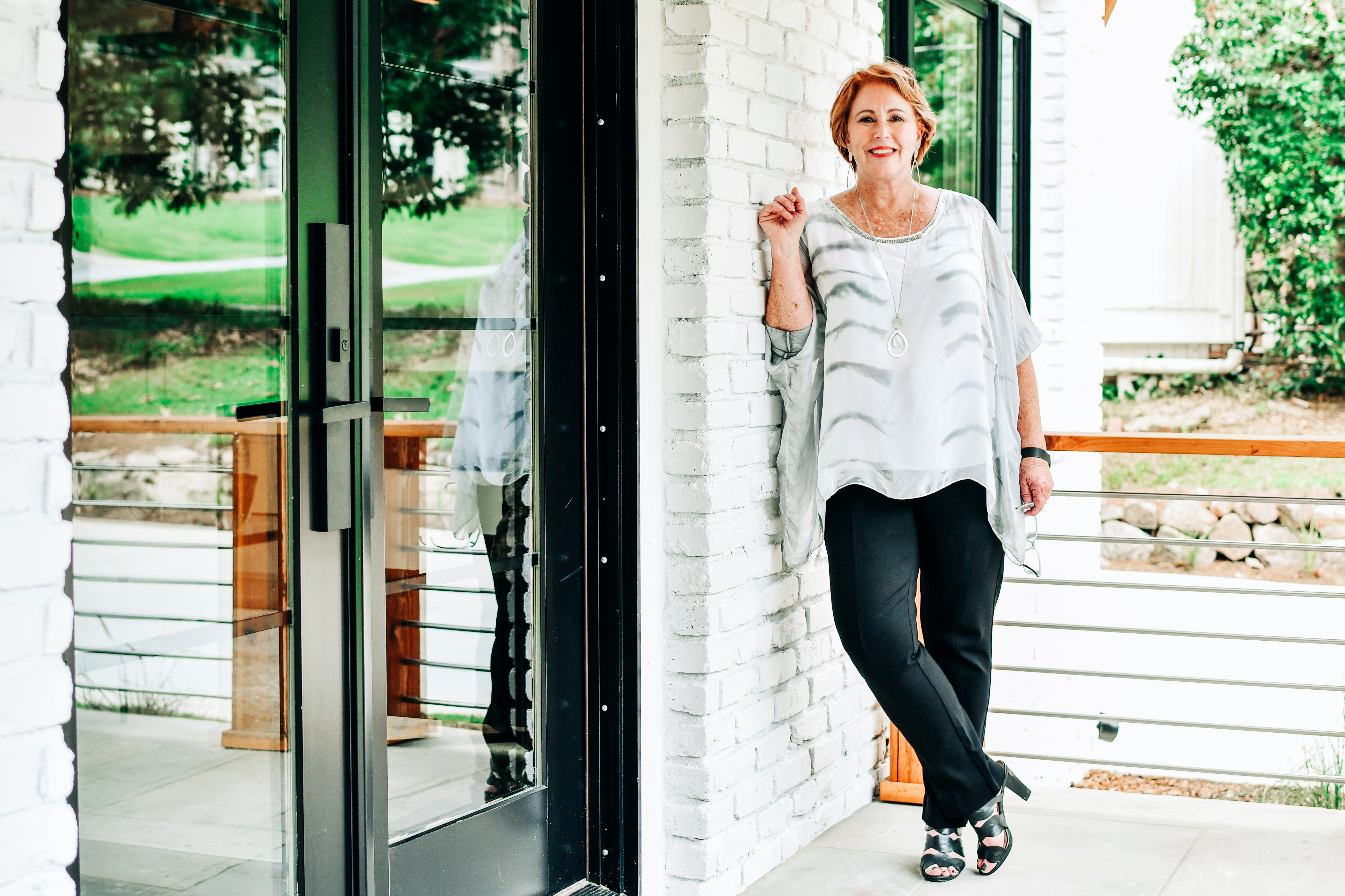 Portrait of Professional Home Stager Jeanne Westmoreland, owner of Classic Staging, LLC. in Atlanta, Georgia.
